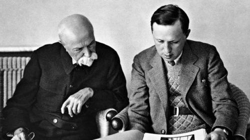 Karel Čapek and Tomáš Garrigue Masaryk